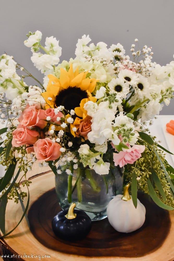 Vintage vase of wild flowers