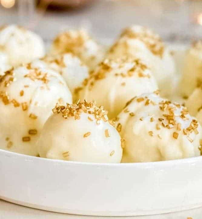 White Chocolate Champagne Truffles