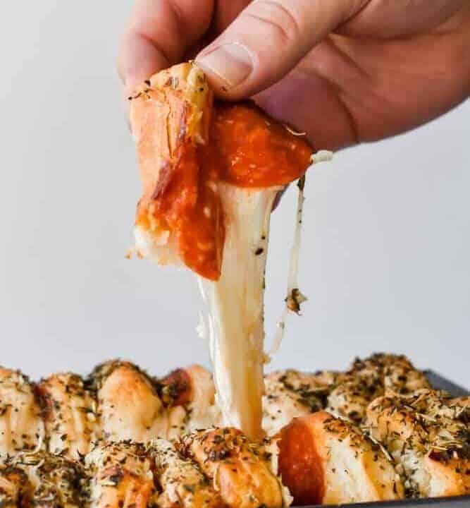 Easy Cheesy Pizza Pull Apart Bread
