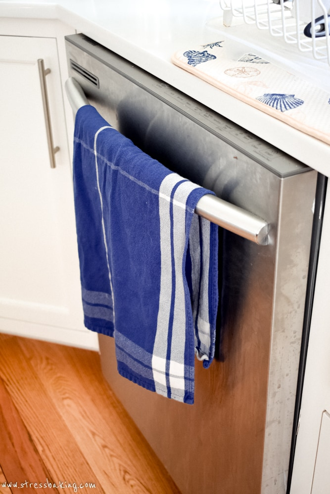 Blue Williams-Sonoma dish towel