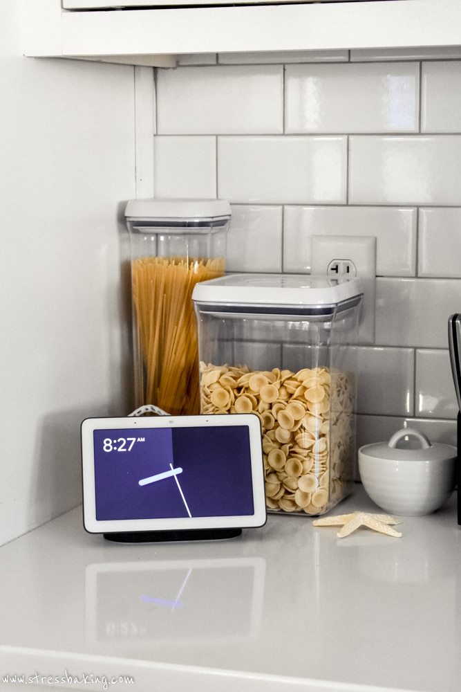 Google Home Hub on a kitchen counter
