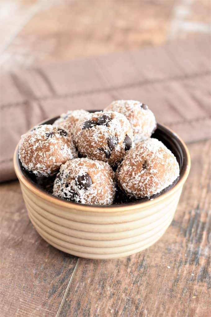 Almond Butter Cookie Dough Bites by Watch Learn Eat