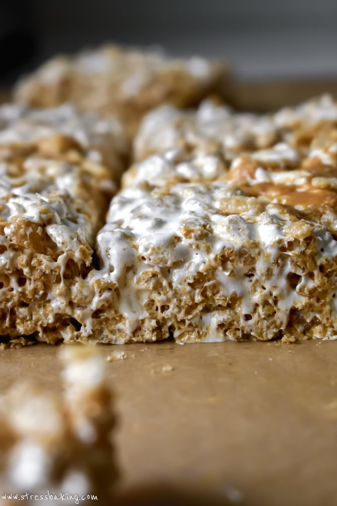 Fluffernutter Rice Krispie Treats