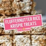 Fluffernutter Rice Krispie Treats (Peanut Butter & Fluff) | Stress Baking