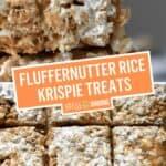 Fluffernutter Rice Krispie Treats (Peanut Butter & Fluff) | Stress BakingFluffernutter Rice Krispie Treats (Peanut Butter & Fluff) | Stress Baking