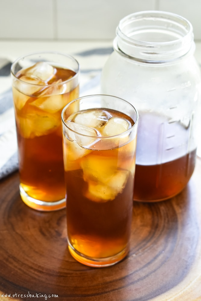 Cold brew coffee in tall glasses of ice