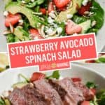 Strawberry Avocado Spinach Salad | Stress Baking