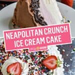 Neapolitan Crunch Ice Cream Cake | Stress Baking