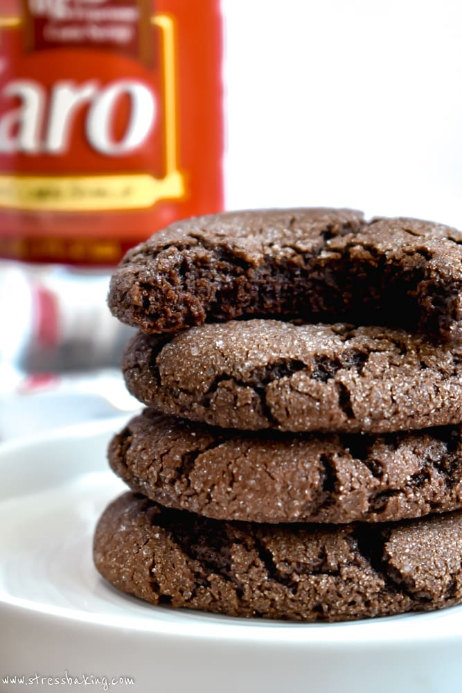 Stack of Chewy Mexican Hot Chocolate Cookies
