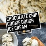 Chocolate Chip Cookie Dough Ice Cream | Stress Baking