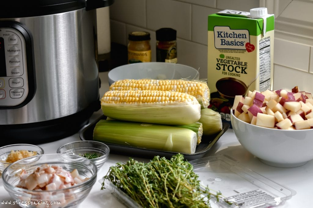 ingredients for corn chowder