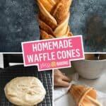 Homemade Waffle Cones | Stress Baking
