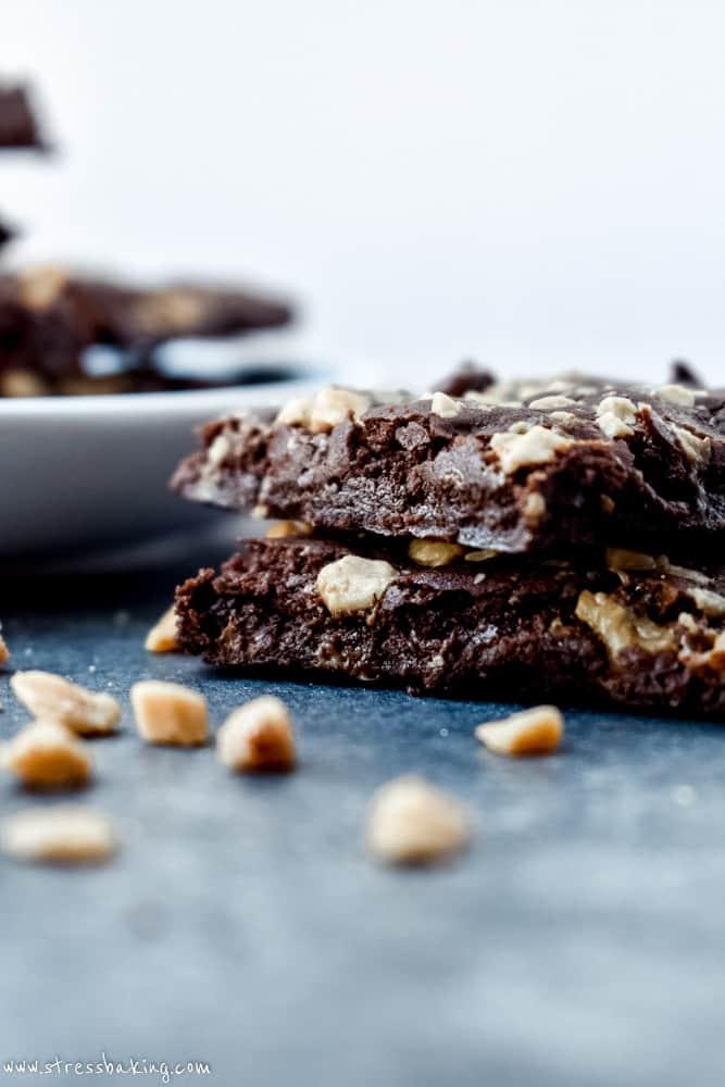 Salted Toffee Crunch Brownie Brittle