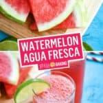 Watermelon Agua Fresca | Stress Baking