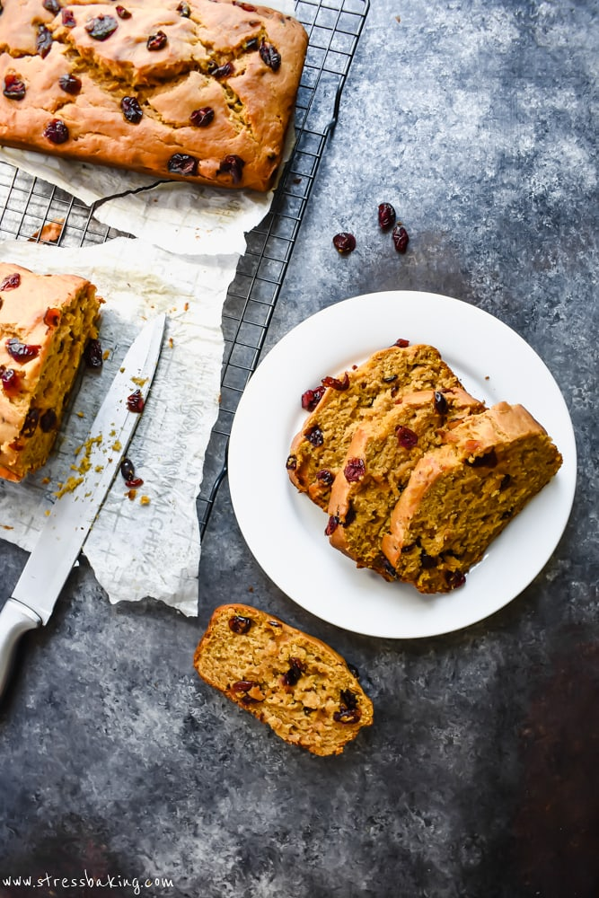 Cranberry Pumpkin Banana Bread