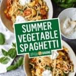 Summer Vegetable Spaghetti | Stress Baking