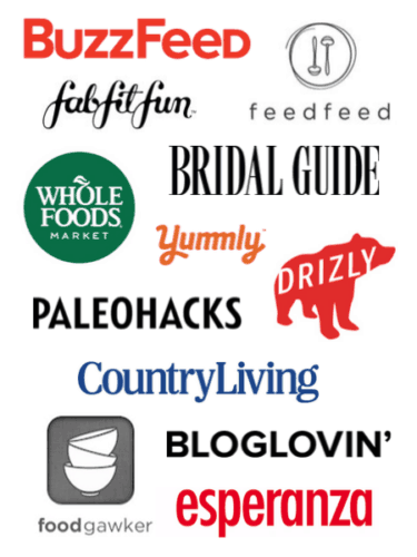 Logos from where Stress Baking has been featured