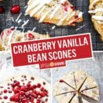 Cranberry Vanilla Bean Scones | Stress Baking