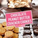 Sweet & Salty Chocolate Peanut Butter Cracker Cookies | Stress Baking