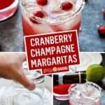 Cranberry Champagne Margaritas | Stress Baking