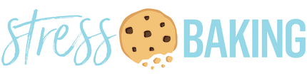 stress baking logo with crumbling cookie