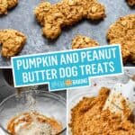 Pumpkin and Peanut Butter Dog Treats | Stress Baking