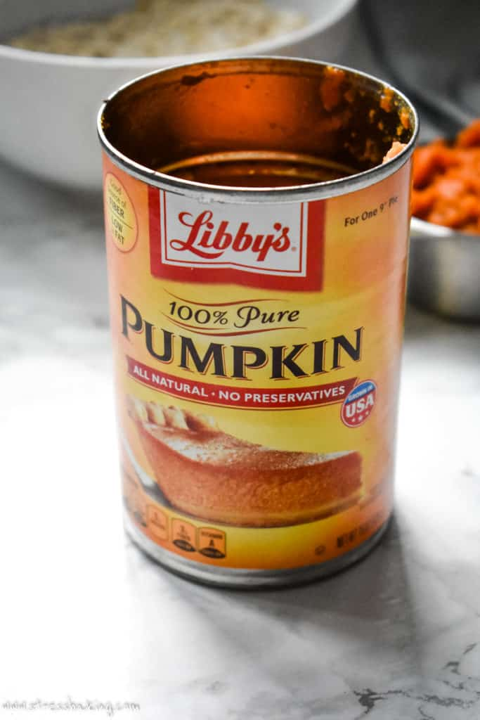 A can of pumpkin puree