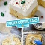Sugar Cookie Bars | Stress Baking