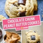 Chocolate Chunk Peanut Butter Cookies | Stress Baking