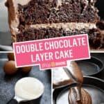 Double Chocolate Layer Cake (Chocolate Mayonnaise Cake) | Stress Baking