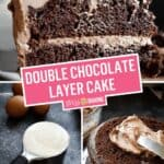 Double Chocolate Layer Cake (Chocolate Mayonnaise Cake) | Stress Baking