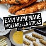 Easy Homemade Mozzarella Sticks | Stress Baking