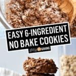 Easy Chocolate Peanut Butter No Bake Cookies | Stress Baking