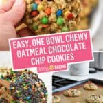 Easy, One Bowl Chewy Oatmeal Chocolate Chip Cookies | Stress Baking