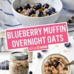 Easy Blueberry Muffin Overnight Oats | Stress Baking