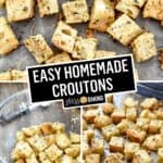Easy Homemade Croutons | Stress Baking