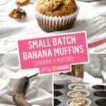 One Banana, One Bowl Small Batch Banana Muffins | Stress Baking