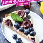 Fresh Fruit Tart with Lemon Mascarpone Cream | Stress Baking