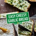 Easy Cheesy Garlic Bread | Stress Baking