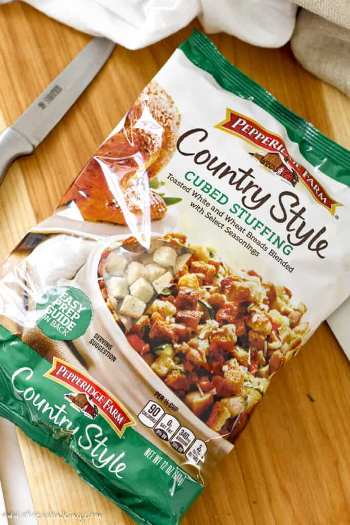 A bag of Pepperidge Farm country style cubed stuffing