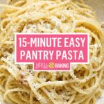 15-Minute Easy Pantry Pasta Pinterest image